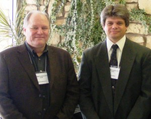 Bill McKeever and Keith Walker at the 2008 EMNR Conference at Midwest Baptist Seminary in Kansas City, Missouri.